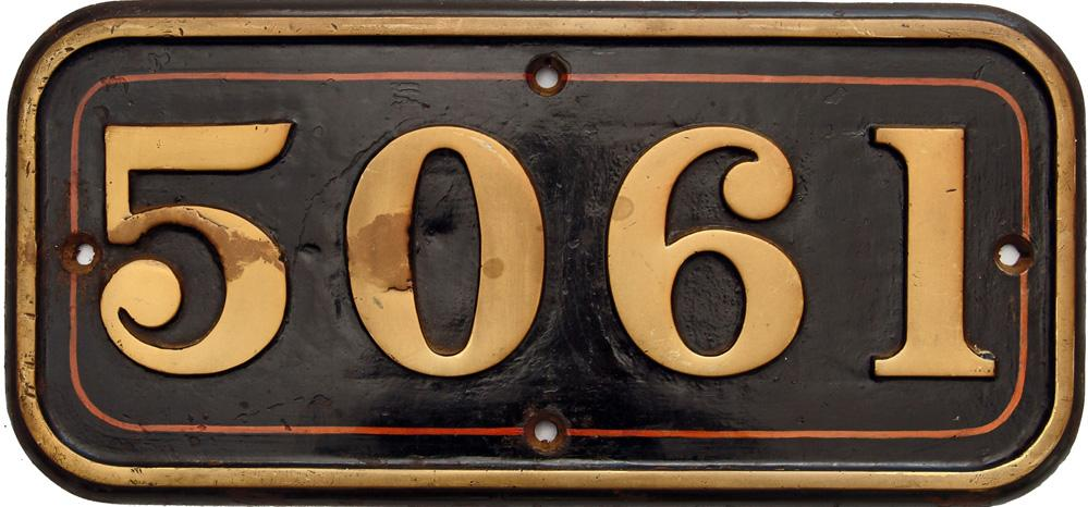 Cabside Numberplate 5061, Ex Castle Class