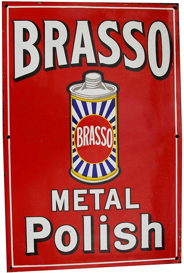 Enamel Advertising Sign 'Brasso Metal Polish'