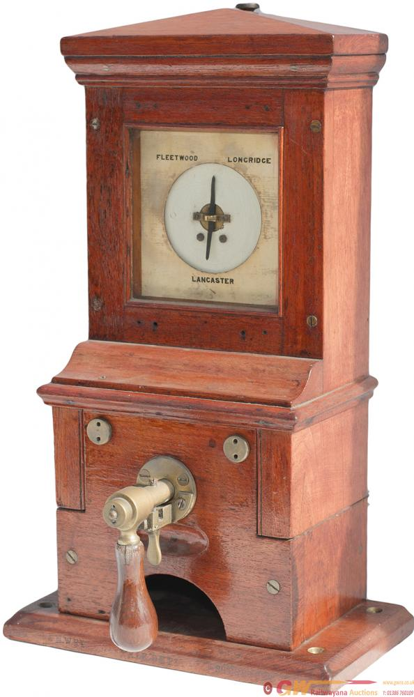 LNWR Mahogany Cased Pegging Route Indicator. The