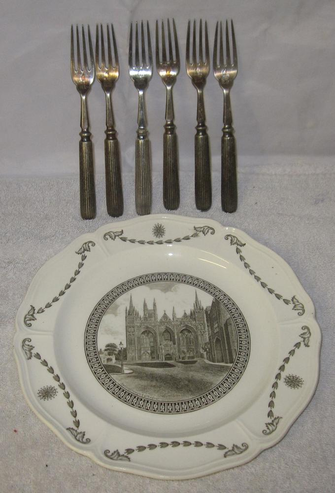 6 X GER Matching Cutlery FORKS Engraved GER