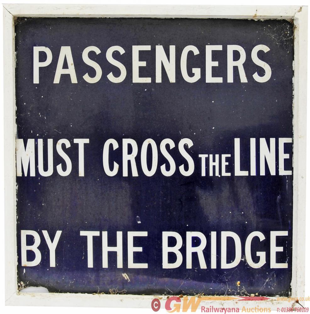 Midland Railway Enamel Platform Sign PASSENGERS