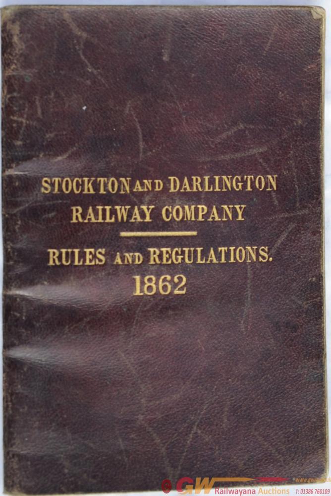 Stockton & Darlington Railway Rule Book Dated