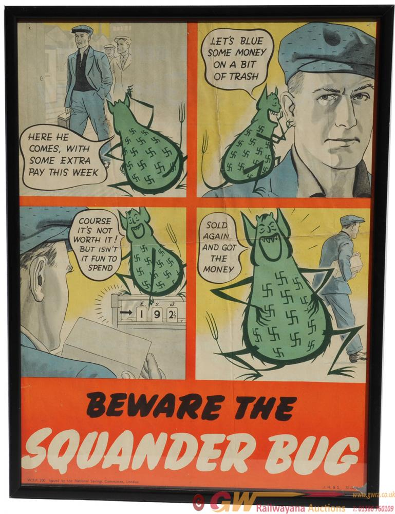 Poster World War II Beware The Squander Bug. The