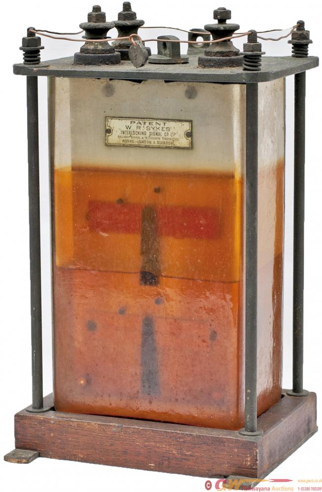 LSWR Sykes Oil Filled Glass Cased Double Signal
