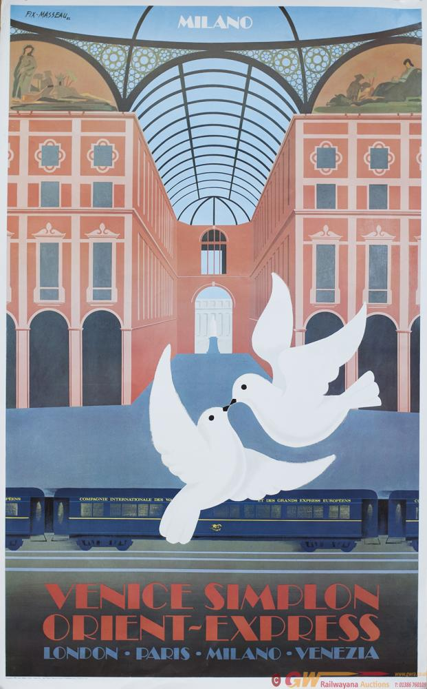 Poster VENICE SIMPLON ORIENT EXPRESS MILANO By