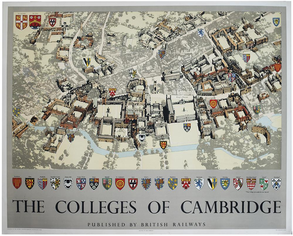 Poster BR THE COLLEGES OF CAMBRIDGE By Fred