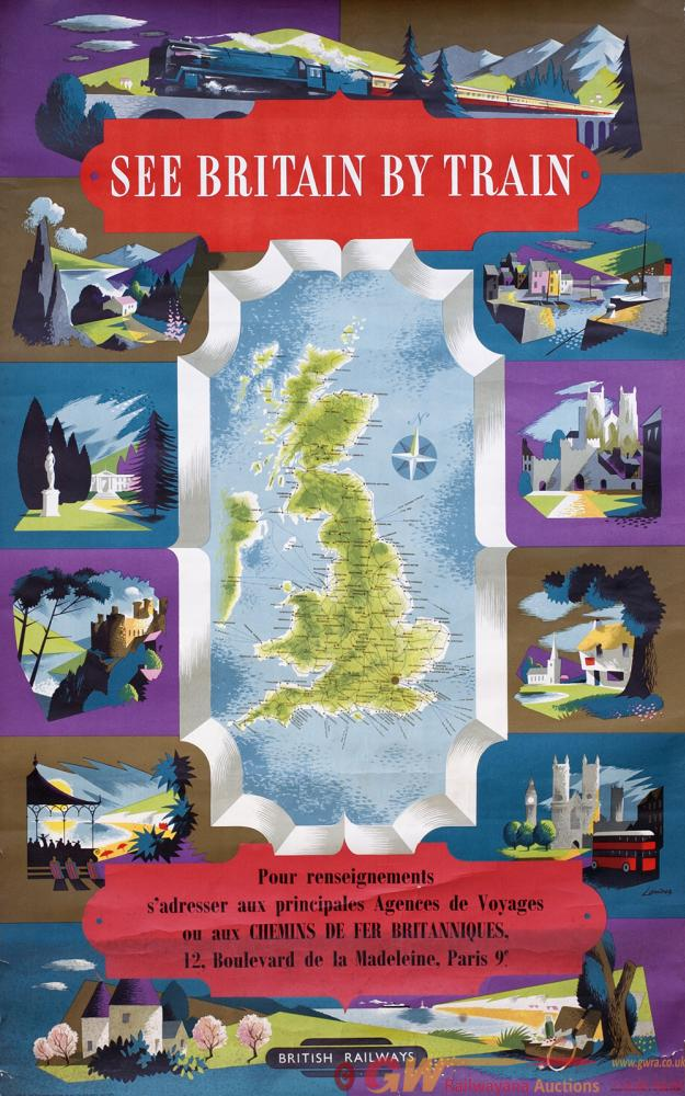 Poster BR SEE BRITAIN BY TRAIN By Reginald Lander.