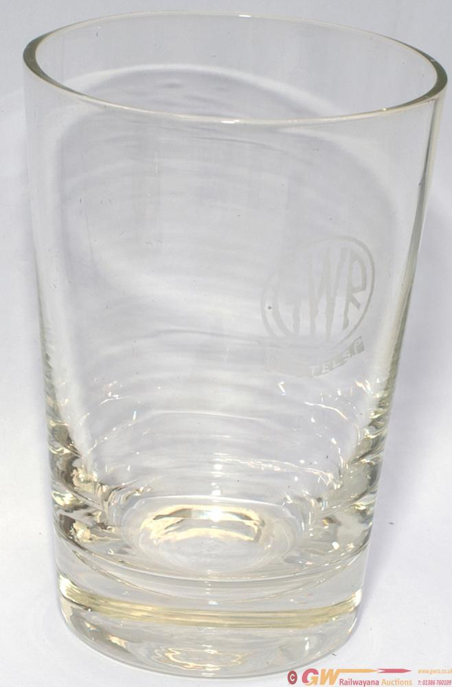 GWR HOTELS Fruit Juice Glass, Acid Etched With GWR