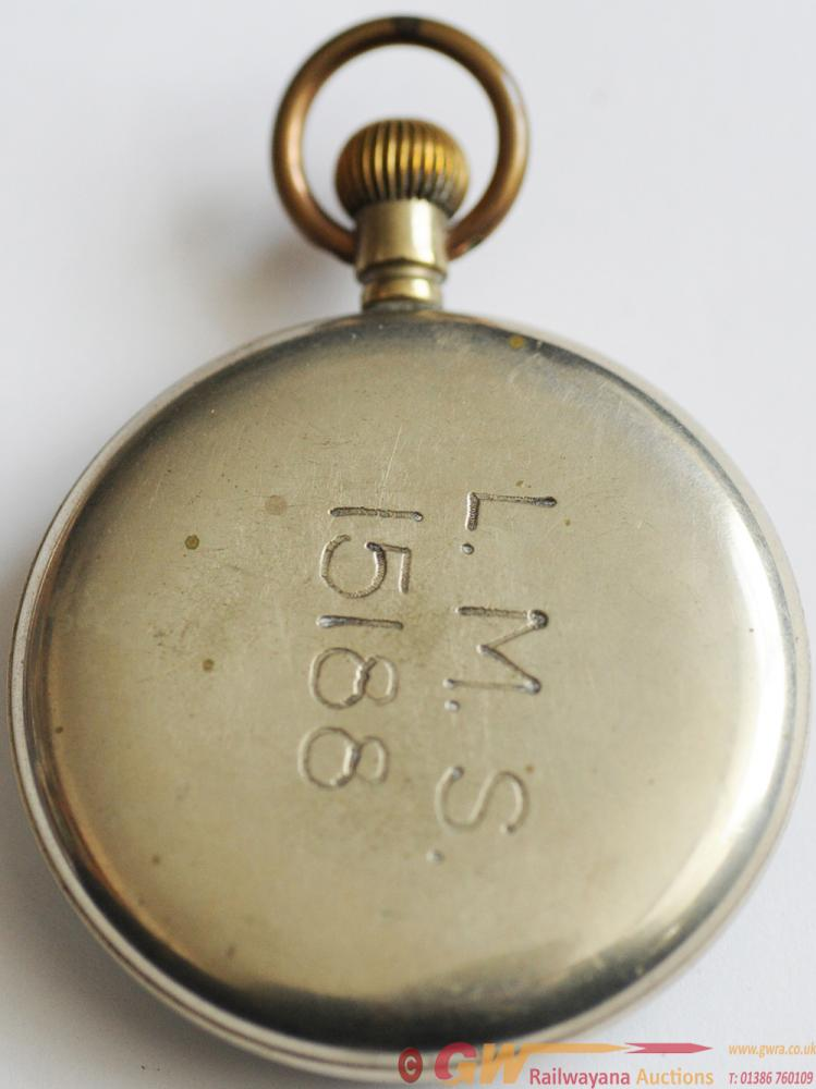 LMS Pocketwatch Engraved On Rear Of Case 'L.M.S.