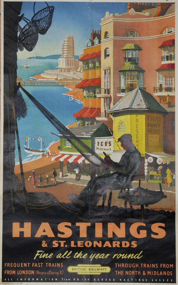 Poster 'Hastings & St Leonards' By Alan Durman,