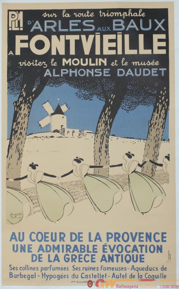 Poster Paris Lyon & Marseille Railway 'D'Arles Aux