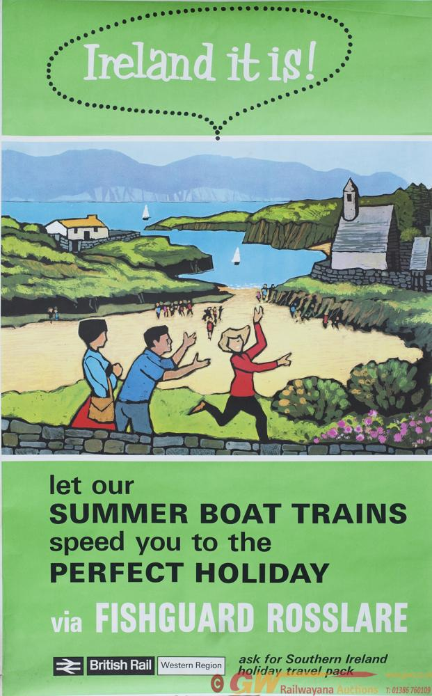 Poster IRELAND IT IS VIA FISHGUARD ROSSLARE.