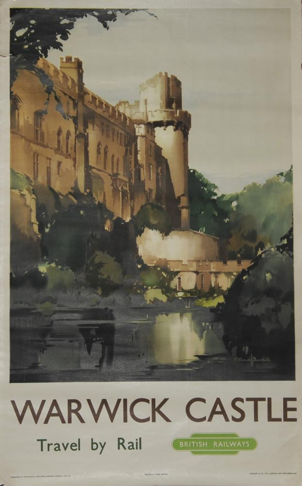 Poster BR 'Warwick Castle' By Claude Buckle D/R