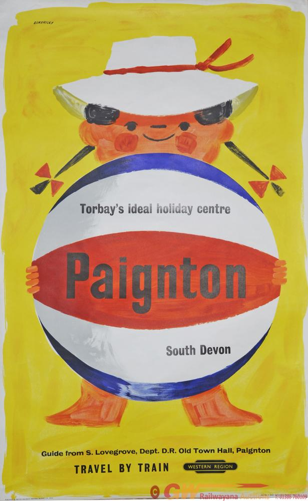 Poster BR 'Paignton' By Eckersley, D/R Size.