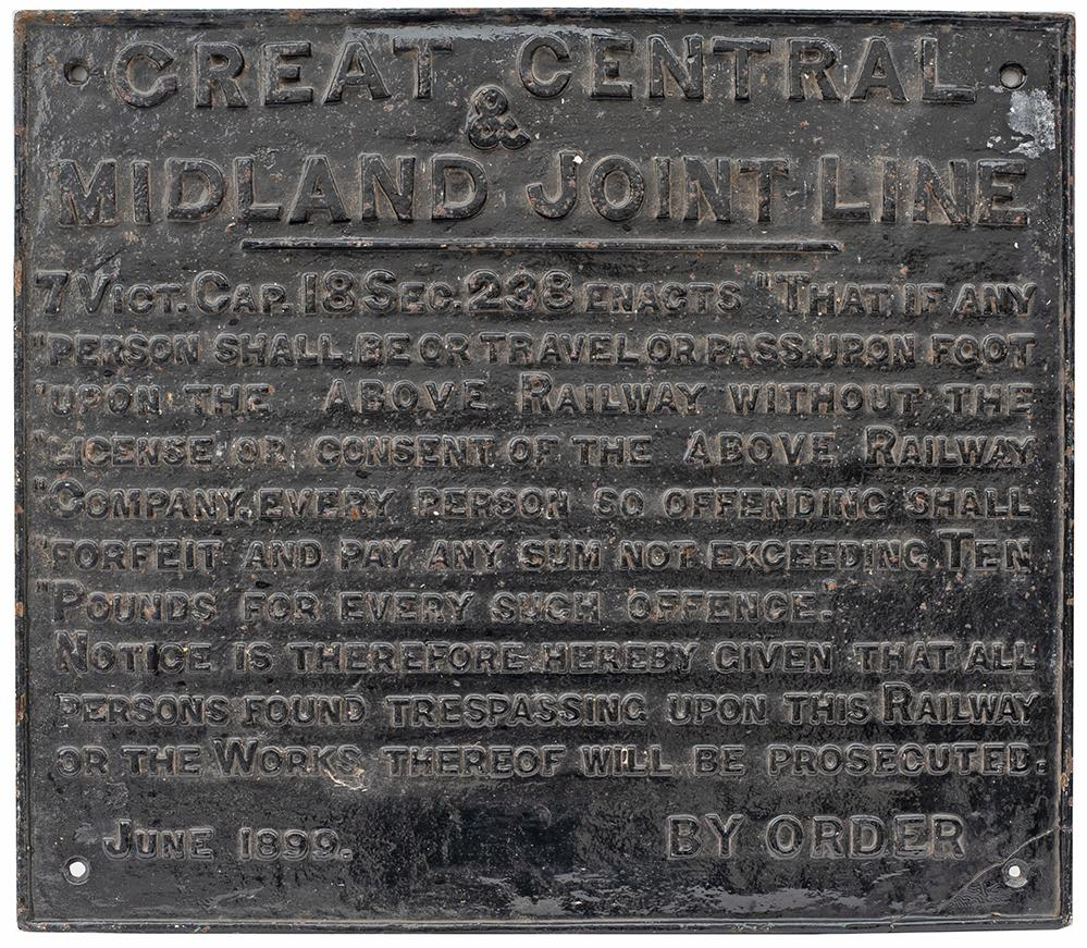 Great Central & Midland Joint Line Cast Iron