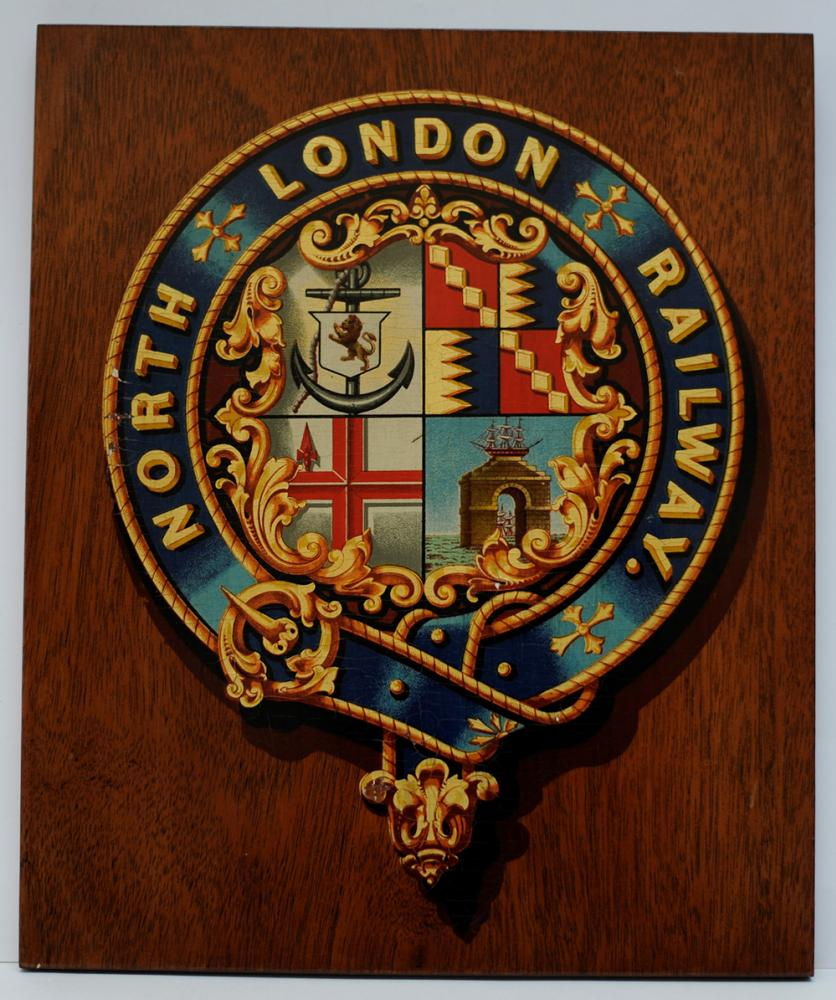 North London Railway Mounted Crest. The Company
