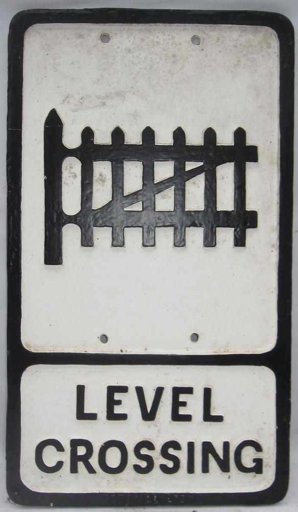 Reproduction Road Sign. Level Crossing By Gomshall