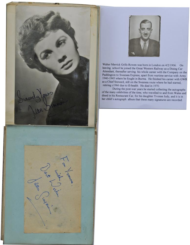 Autograph Book As Used By Walter Rowan, A