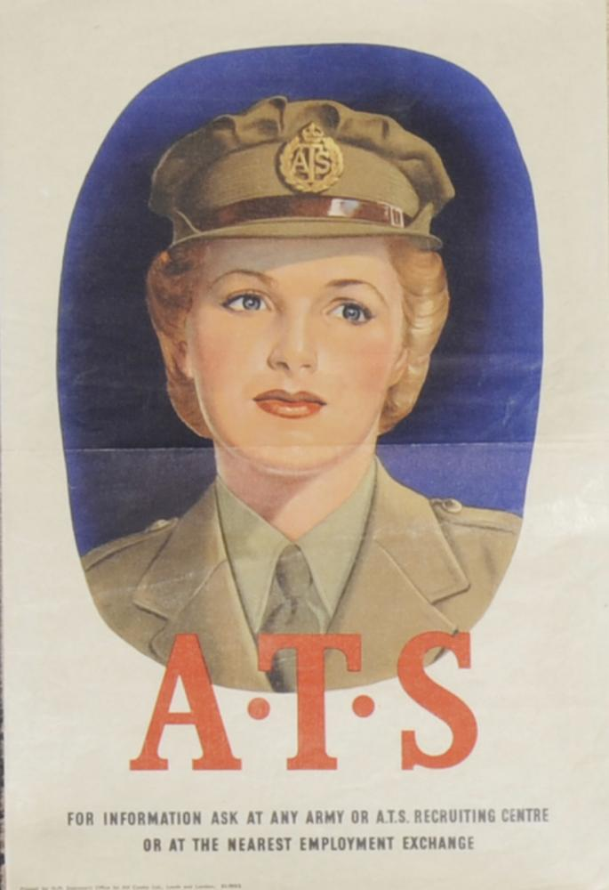 Wartime Poster, WWII 'ATS - For Information Ask At