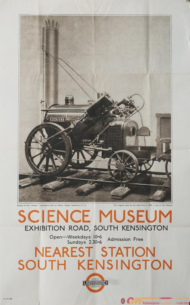Poster London Underground SCIENCE MUSEUM SOUTH