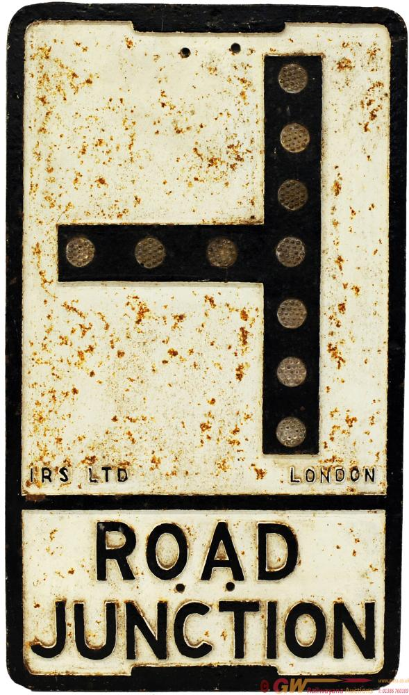 Motoring Road Sign ROAD JUNCTION. Cast Iron