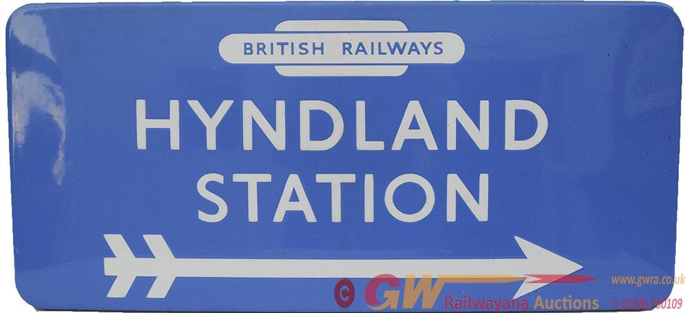 BR(Sc) Enamel Station Direction Sign HYNDLAND