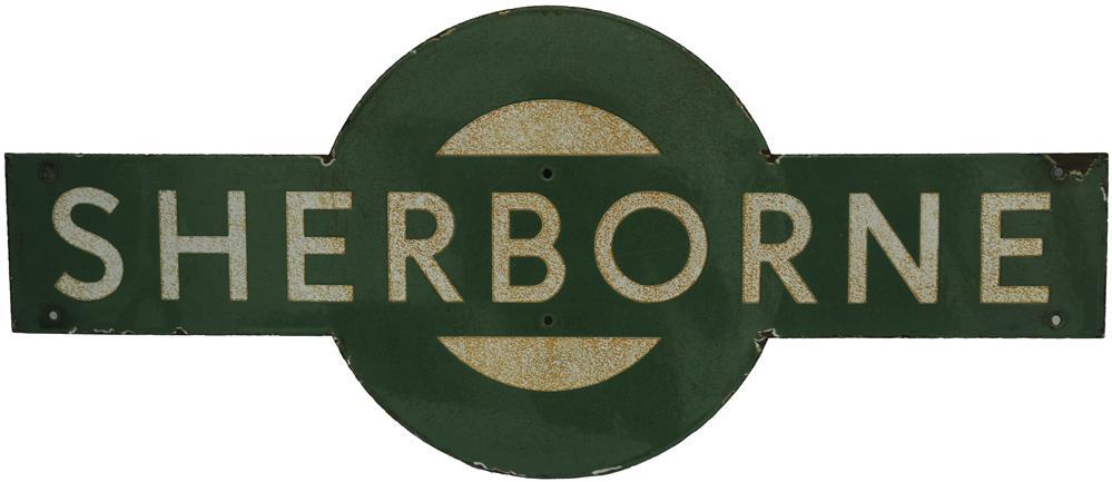 Southern Railway Target SHERBORNE. Ex L&SWR