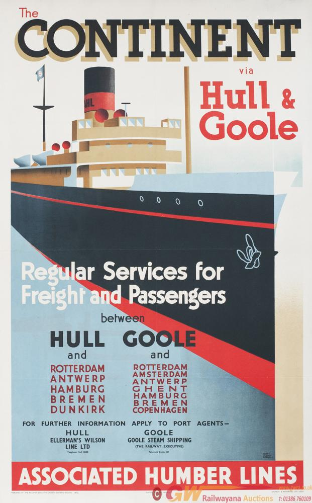 Poster ASSOCIATED HUMBER LINES THE CONTINENT VIA