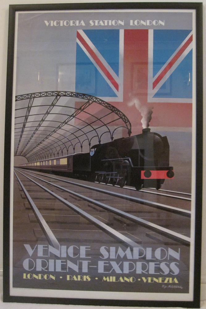 Framed Poster. Venice Simplon Orient Express Ready