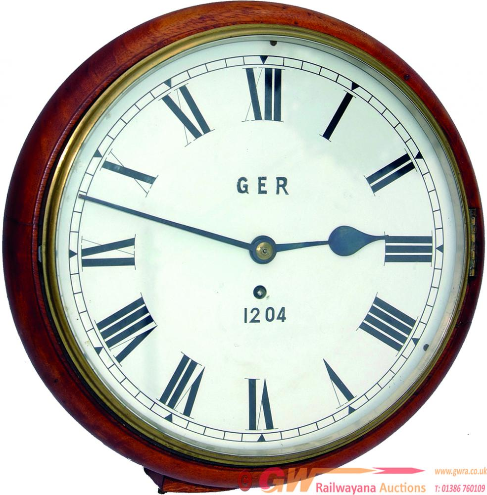 GER 12 Mahogany Cased Fusee Clock No 1204 With A