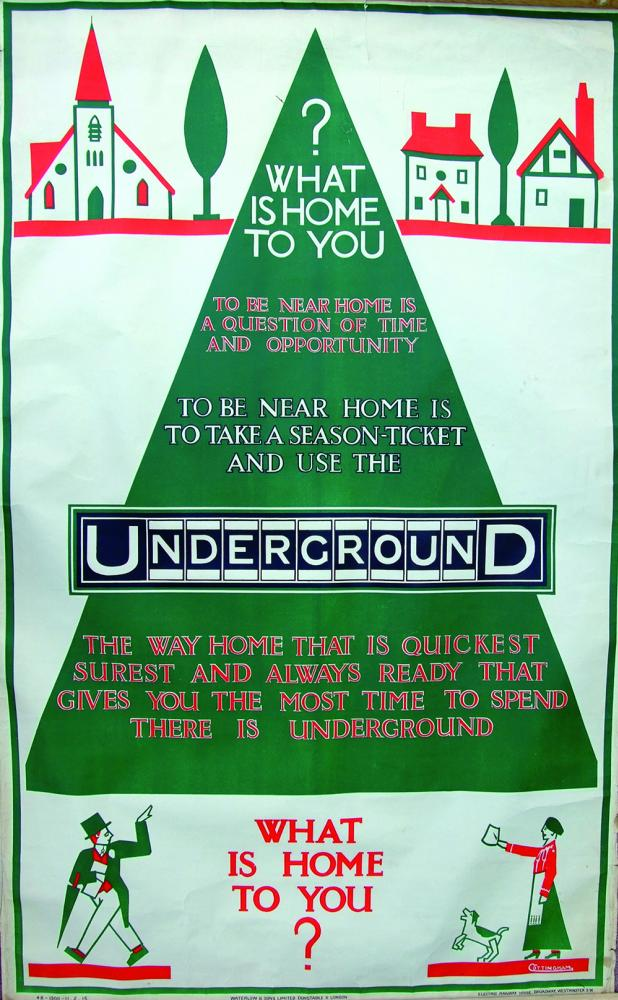 Poster, London Underground, 'What Is Home To You?'