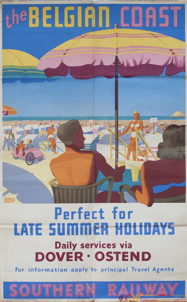 Poster Southern Railway THE BELGIAN COAST PERFECT