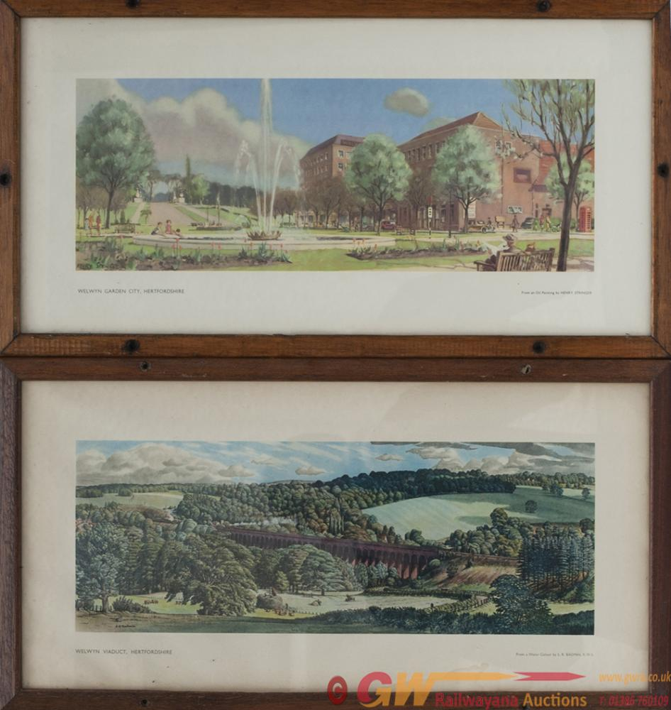 A Pair Of Carriage Prints; WELWYN GARDEN CITY