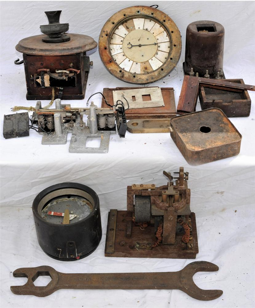 A Lot Containing Signalling And Telephone Parts To