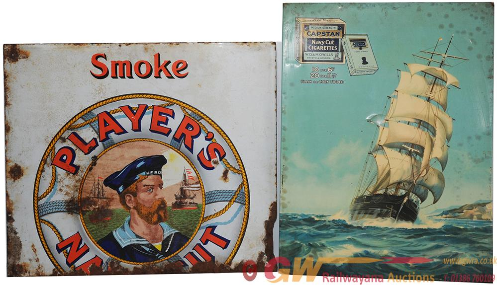 Advertising Signs X 2 One Is A Celluoid & Tinplate