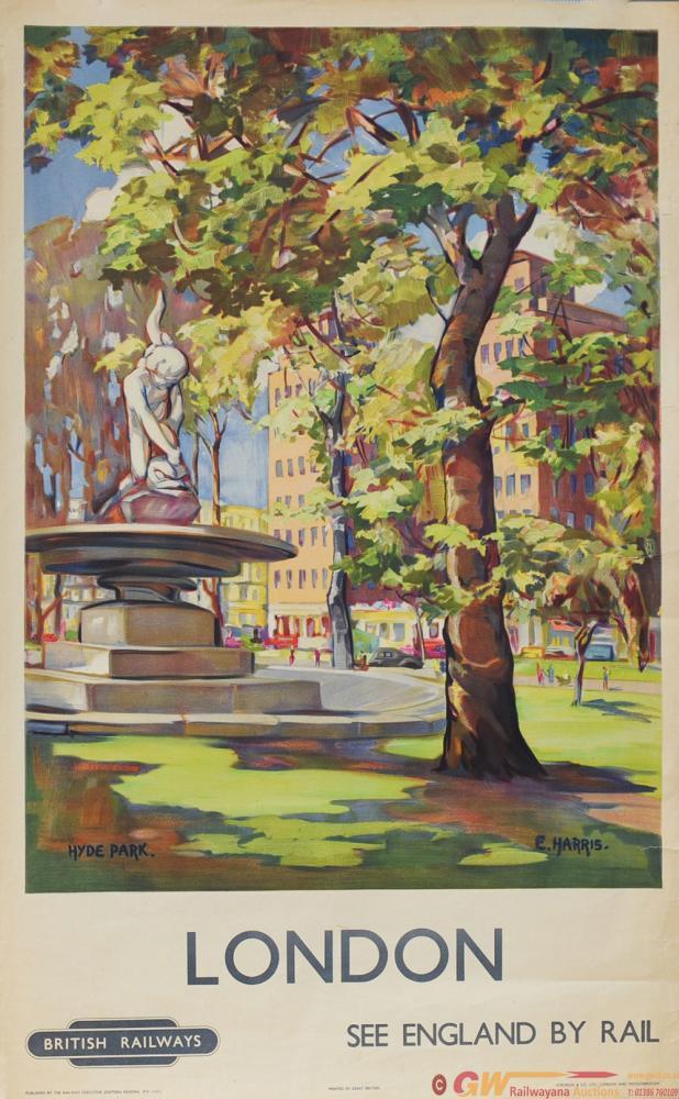 Poster British Railways 'London - Hyde Park' By E.