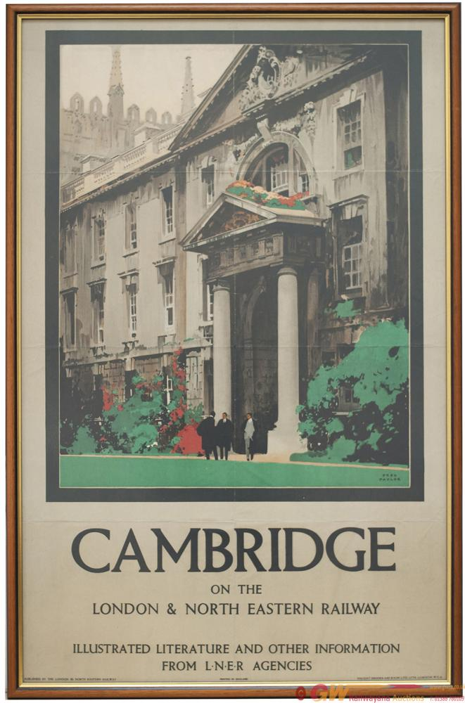 Poster LNER CAMBRIDGE ON THE LONDON & NORTH