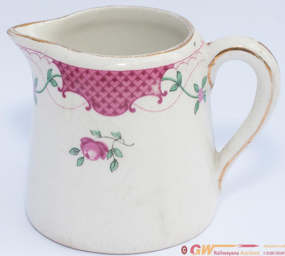 LMS China Cream Jug, Royal Scot Rose Pattern. Base