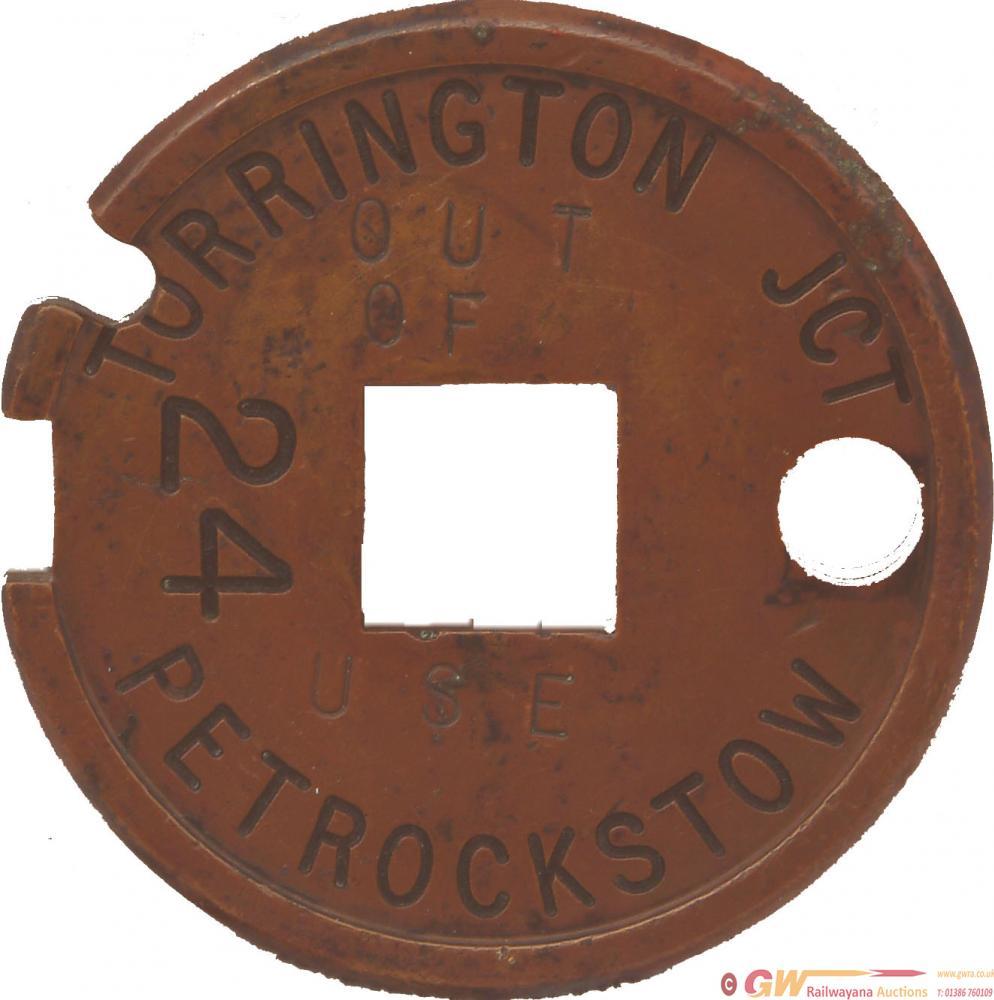 Tyers Brass Single Line Tablet TORRINGTON JCT -