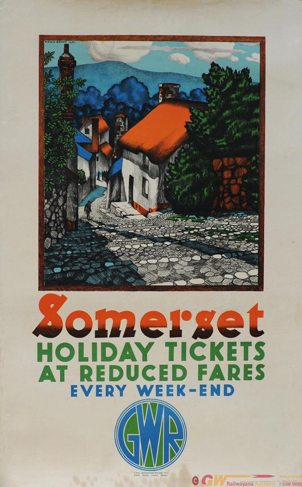 Poster GWR 'Somerset - Holiday Tickets At Reduced