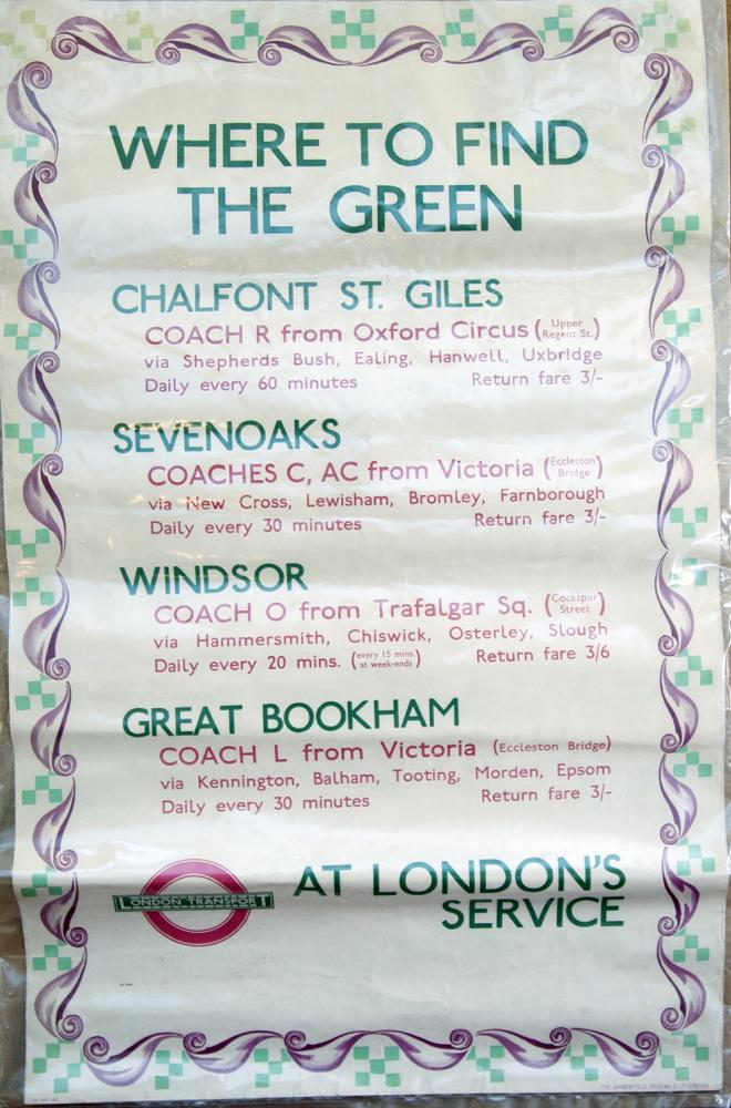 London Transport Double Royal Poster Where To Find