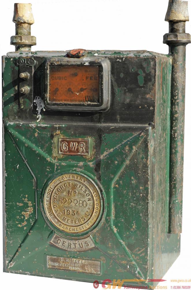 GWR Gas Meter, Certus No. 522280, 1934, Ex