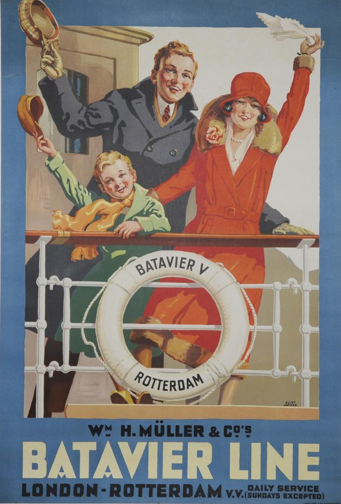 Shipping Poster  'Batavier Line London To