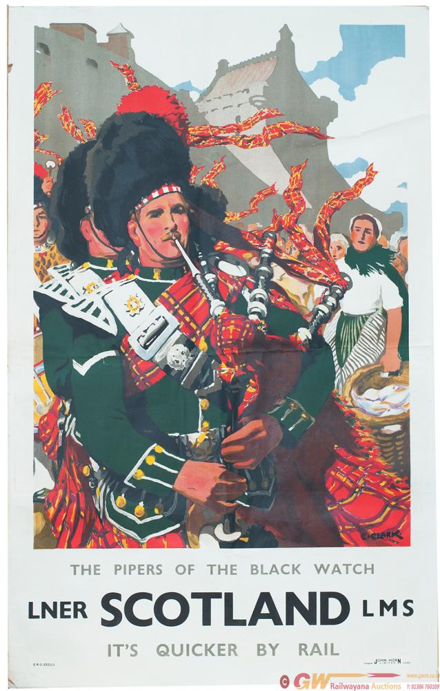 Poster LNER/LMS SCOTLAND THE PIPERS OF THE BLACK