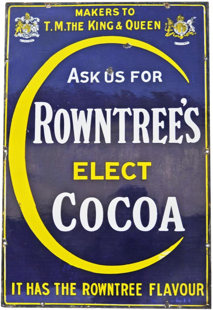 Enamel Advertising Sign 'Ask Us For Rowntrees