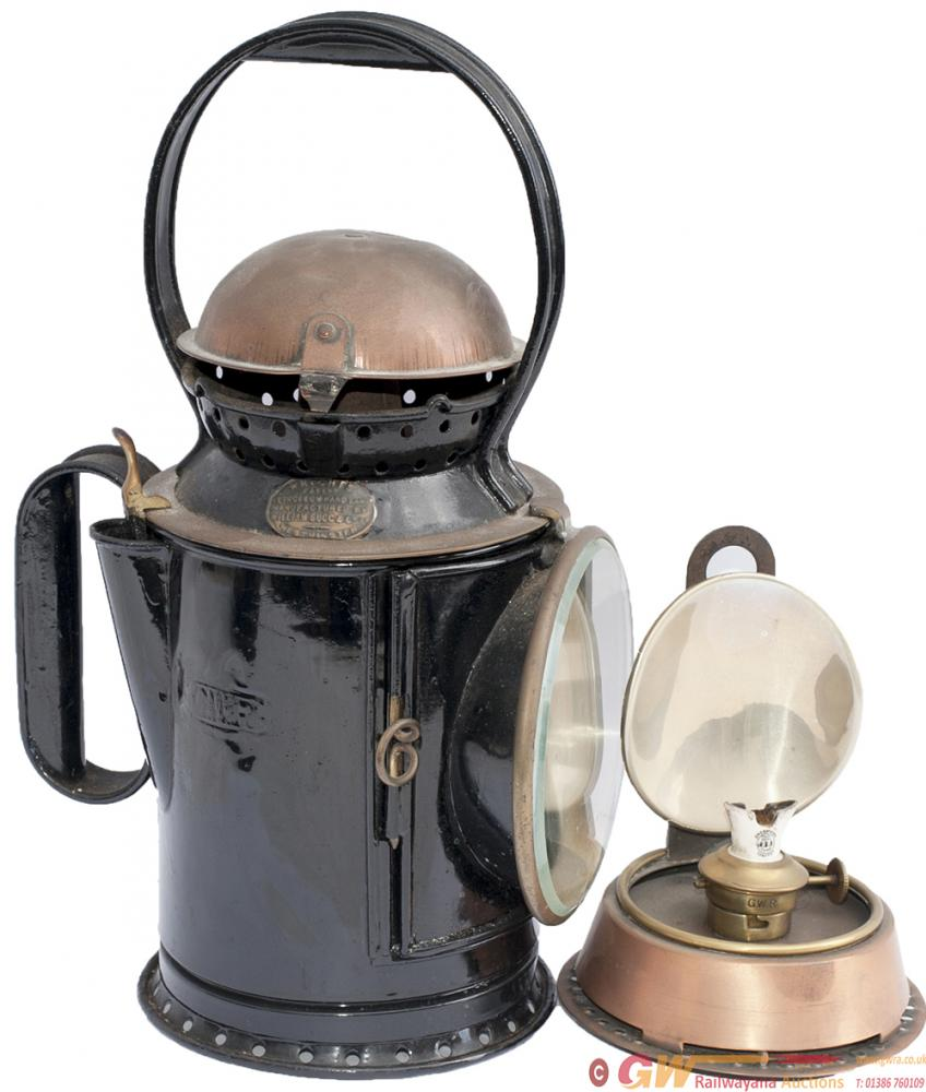 GWR 3 Aspect Wrights Patent Coppertop Handlamp
