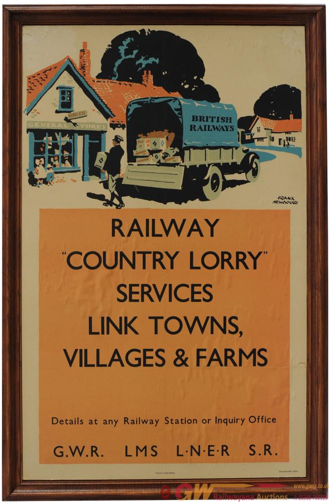 Big 4 Poster 'Railway Country Lorry Services Link