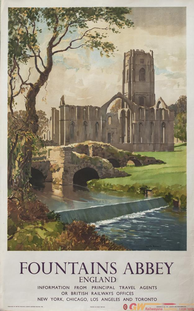 Poster BR(NE) FOUNTAINS ABBEY ENGLAND By Gyrth