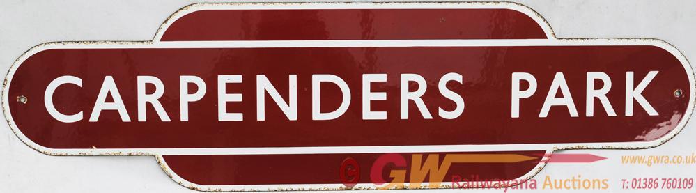 Totem BR(M) CARPENDERS PARK, Ex L&NWR Station