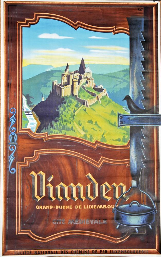 Poster, SNCF 'Vinnden - Grand Duchy De Luxembourg